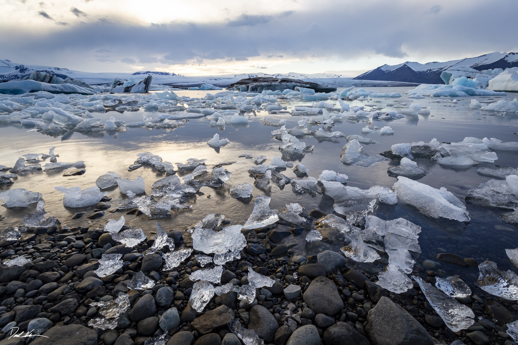 Icy beach in Iceland