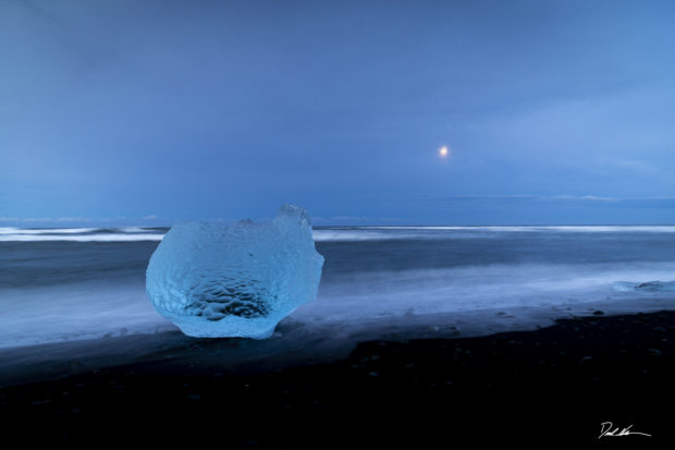 Ice on beach in Iceland