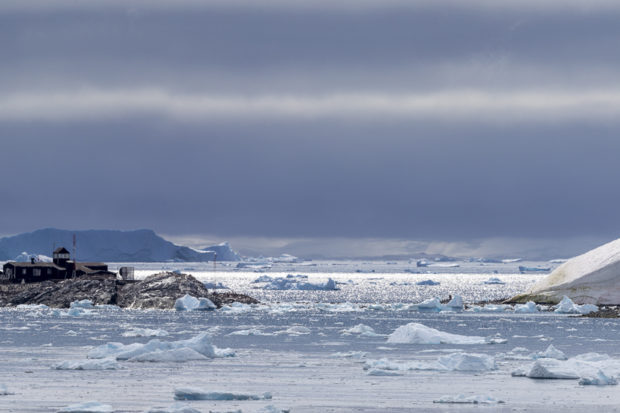 research station on coast of Antarctica