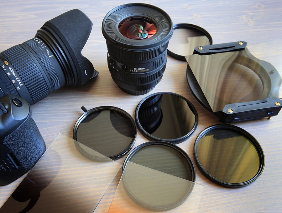 photo of many filters used in photography