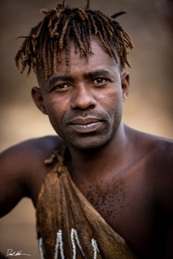 portrait of a tribal chief in Africa